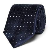 Canali - 8cm Polka-dot Silk-jacquard Tie
