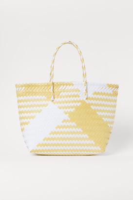 H&M Braided Shopper - Yellow