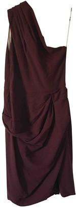 Roksanda Ilincic Burgundy Wool Dress for Women