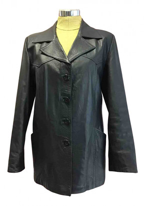 Gianni Versace Black Leather Leather jackets