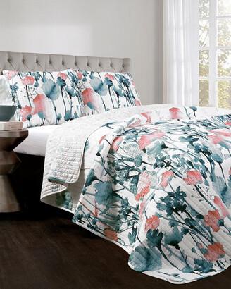 Triangle Home Fashion Zuri Flora Quilt Set