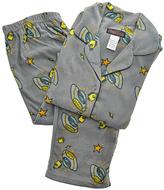 Angelina Gray Space Cartoon Giftable Fleece Pajama Set