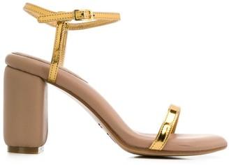MM6 MAISON MARGIELA Metallic Strap Sandals