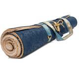 Holistic Silk Yoga Rug Mat Navy
