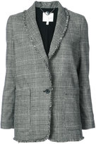 Joie frill trim checkered blazer