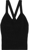 Bottega Veneta Metallic Ribbed Wool-blend Tank - Black