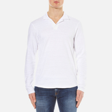 Orlebar Brown Massey Long Sleeve Slub Top White
