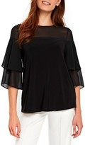 Wallis Women's Sheer Frill Top