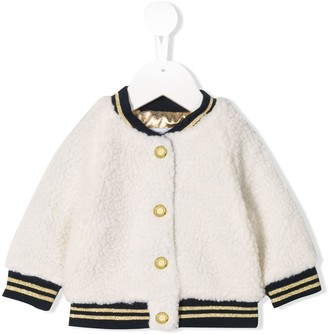 Little Marc Jacobs contrast bomber jacket