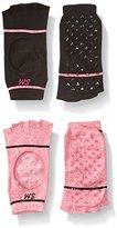 Steve Madden Women's Open Toe Yoga Sock with Grippers 2-Pack