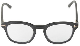 Tom Ford 49MM Square Blue Block Optical Glasses