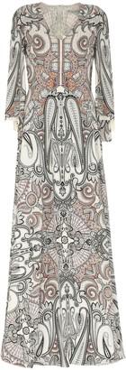 Etro Paisley Print Silk Gown