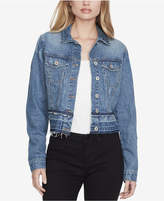 Jessica Simpson Juniors' Cotton Release-Hem Denim Jacket