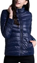 CHERRY CHICK Women's REVERSIBLE Ultralight Down Jacket with Carry Pouch
