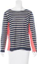 Tory Burch Striped Long Sleeve T-Shirt