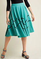 Collectif Zag Influence Midi Skirt in XL - A-line Skirt by Collectif from ModCloth