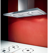 Elica Galaxy Chimney Hood, Stainless Steel/White Glass