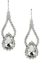 Cezanne Rhinestone Pear Shape Double Drop Statement Earrings