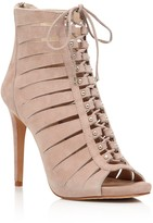 Vince Camuto Fionna Lace Up Open Toe High Heel Booties