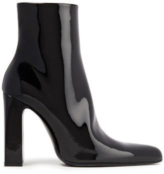 Balenciaga Faux Patent-leather Ankle Boots