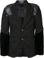 Comme des Garcons padded shoulders pinstripe jacket - men - Polyester - M