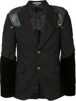 Comme des Garcons padded shoulders pinstripe jacket - men - Polyester - S