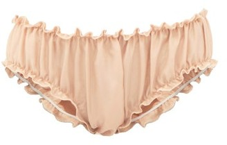 Loup Charmant Frilled Silk Bloomer Briefs - Nude