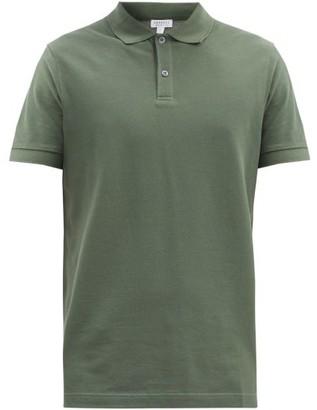 Sunspel Cotton-pique Polo Shirt - Dark Green