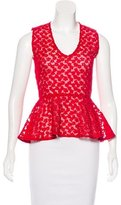 Maje Sleeveless Embroidered Top