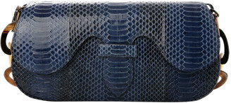 Adriana Castro Alicia Snakeskin Clutch Shoulder Bag
