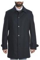 Z Zegna Men's Blue Wool Coat.
