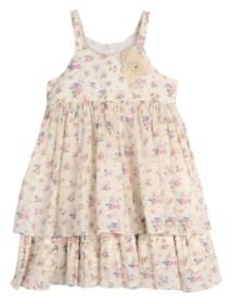 Laura Ashley Little Girls Sleeveless Floral Print Dress