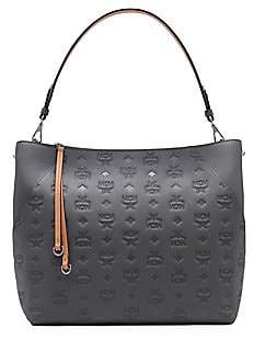 MCM Women's Medium Klara Monogram Leather Hobo Bag