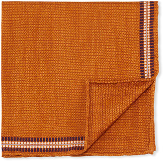 Edward Armah Men's Solid Silk Pocket Square w/ Border