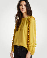 Ann Taylor Full Ruffle Sleeve Top