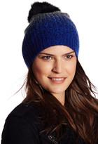 Sofia Cashmere Genuine Fox Fur Pompom Slouchy Beanie