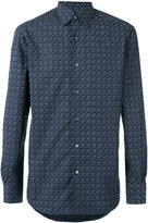 Ermenegildo Zegna geometric long sleeved shirt