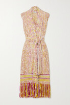 Thumbnail for your product : Gabriela Hearst + Net Sustain Tanoira Belted Fringed Cashmere Vest