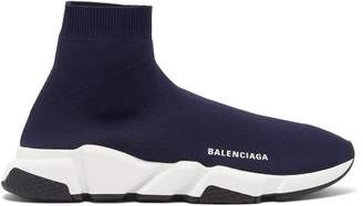 Balenciaga Speed Trainers - Mens - Navy