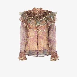 Zimmermann Lucky ruffle tiered blouse