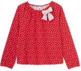 Petit Bateau Girls flower print tube knit blouse