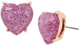 Betsey Johnson Not Your Babe Lavender Heart Stud