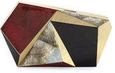 Rafe Azura Asymmetric Minaudiere, Red/Black/Gold