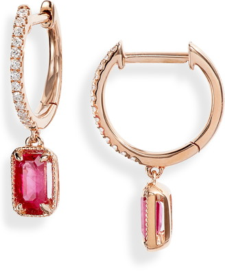 Bony Levy El Mar Ruby & Diamond Drop Earrings