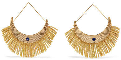 Aurelie Bidermann Azzura Gold-plated Resin Earrings