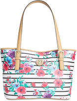 Giani Bernini Floral Stripe Tote, Only at Macy's
