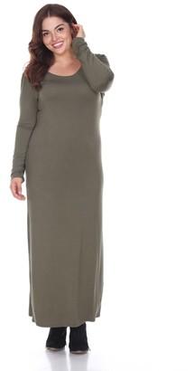 White Mark Plus Size Solid Maxi Dress