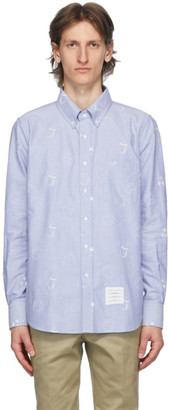 Thom Browne Blue Oxford Multi Ball Shirt