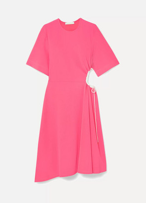 See by Chloe Cutout Stretch-crepe Dress - Pink