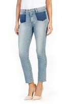 Paige Women's Jacqueline Shadow Pocket High Rise Straight Leg Jeans